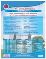 34th Annual Conference Anaesthesiologist - A Clinician and a Scholar